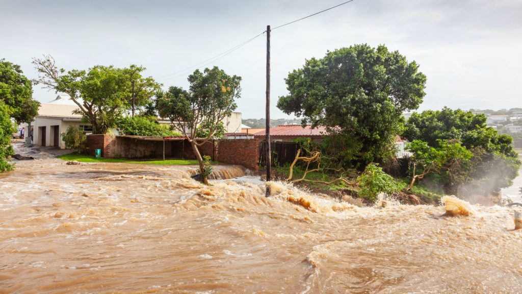 Flood in Bushmans River in South Africa